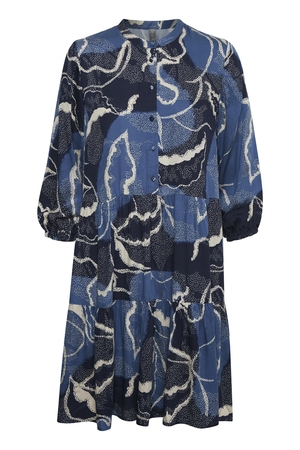 CULTURE Shania Dress Blue Iris