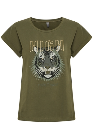 CULTURE Gea T-shirt Olive Night