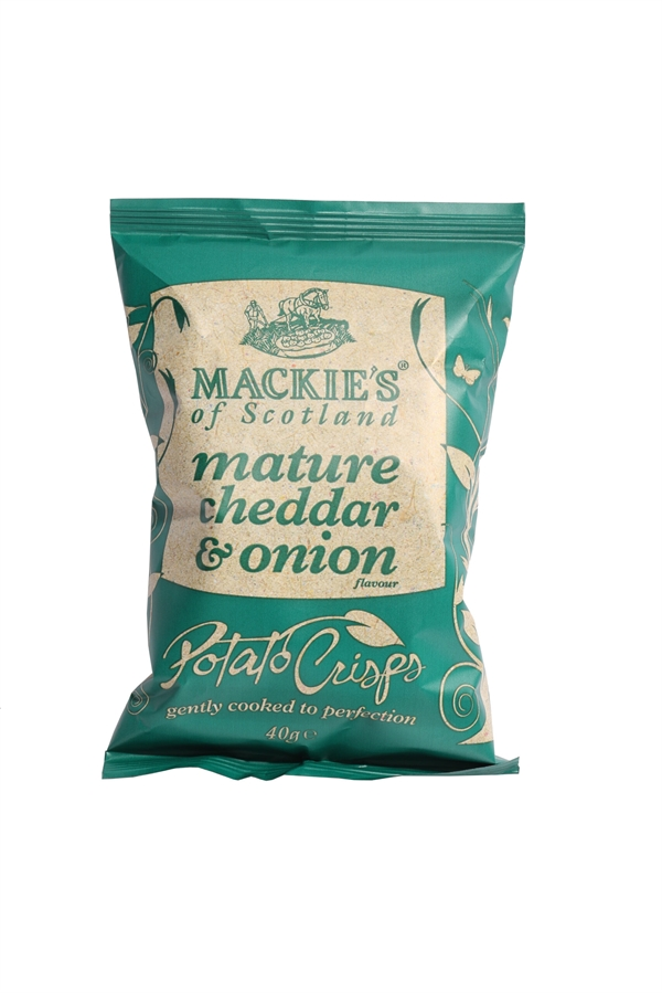 Mackie's of Scotland Cheddar & Onion chips 40g