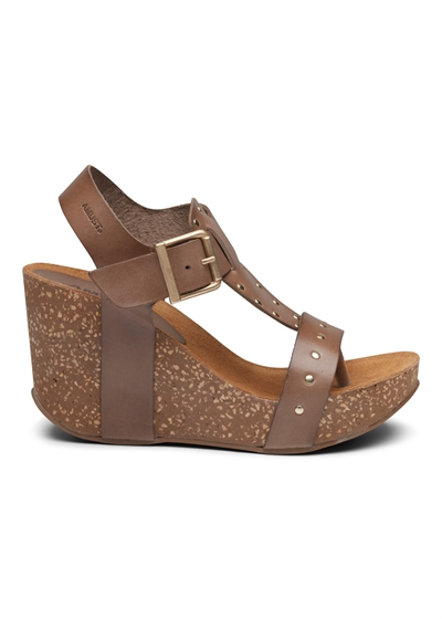 Amust Michelle High Cork Sandal Taupe