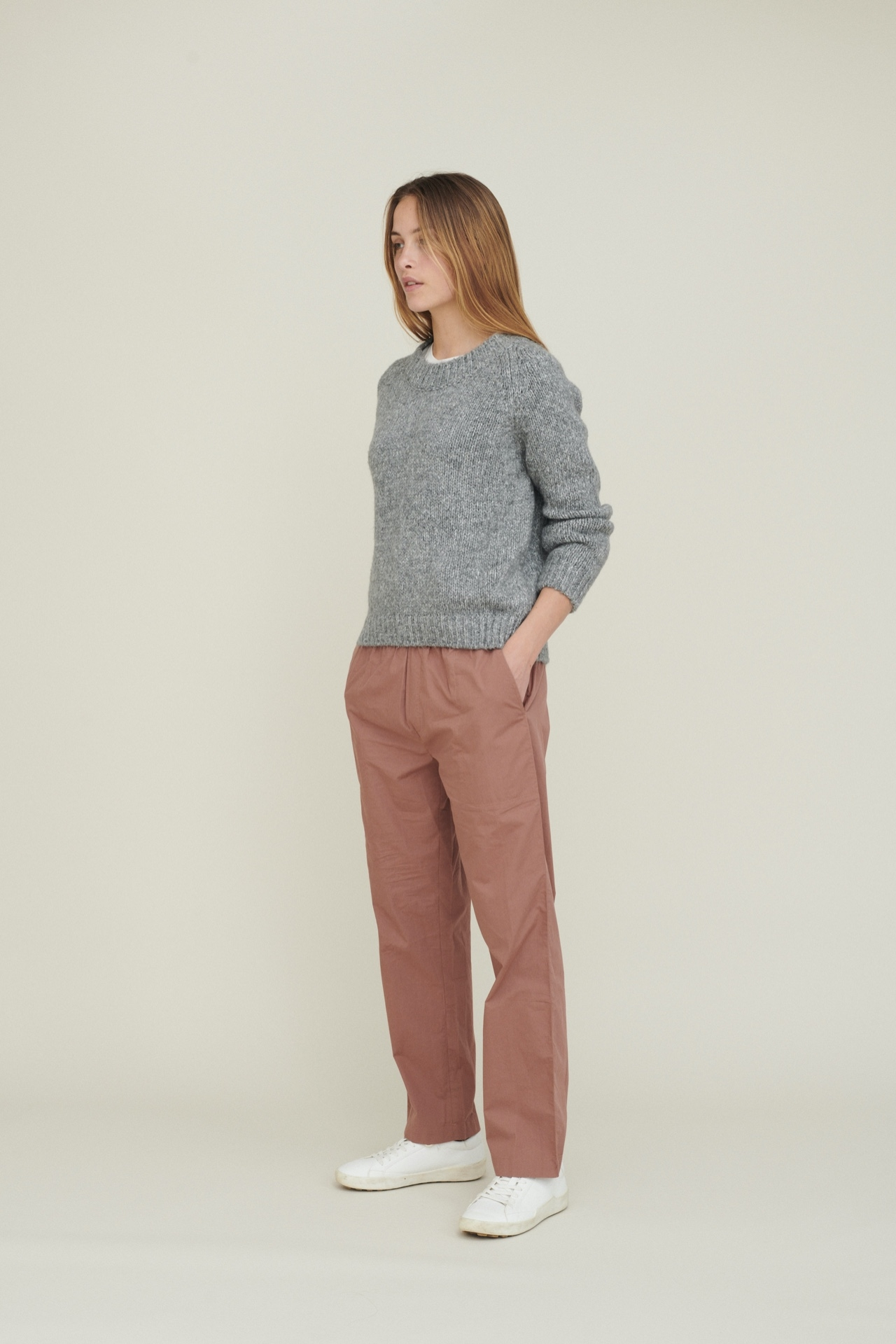BASIC APPAREL Aliki Sweater Light Grey