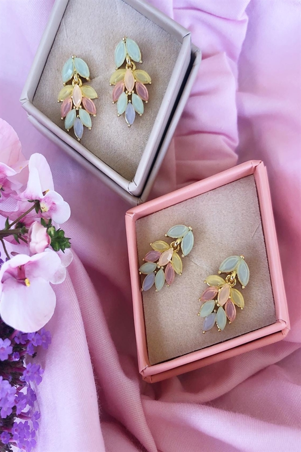 FRIIHOF+SIIG Pastel Leaf Earrings