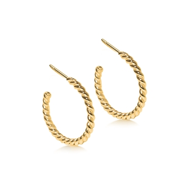 Friihof+Siig Twistet Hoops Gold