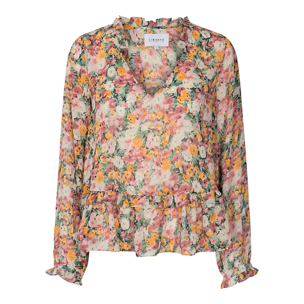 LIBERTÉ Shirley Blouse Orange Flower