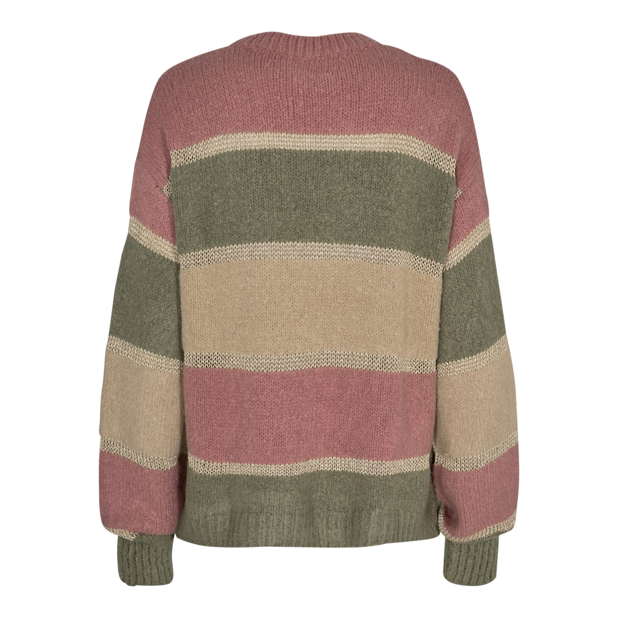 Liberté Bobbi Lurex Pullover Rose Army Stripe