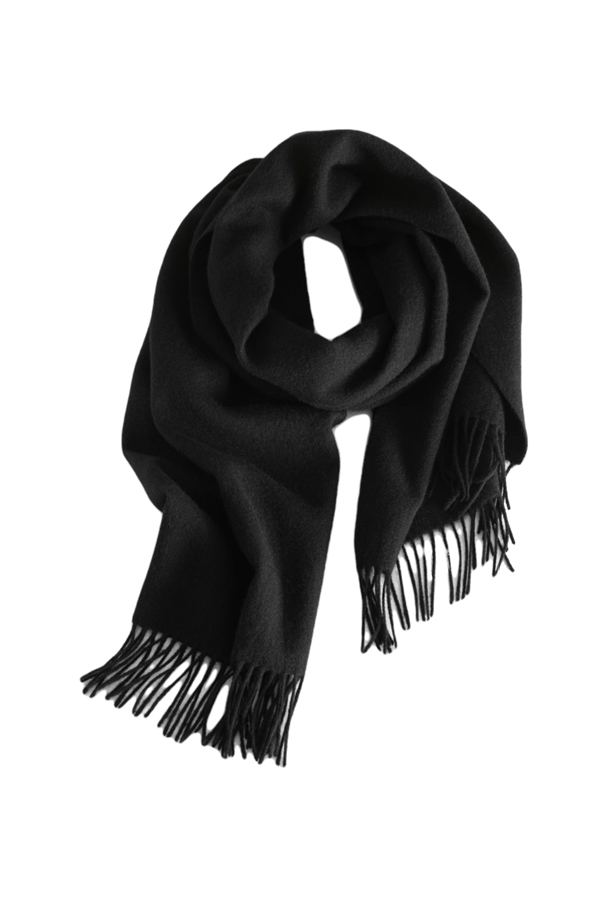 THREE M Cashmere Scarf Black