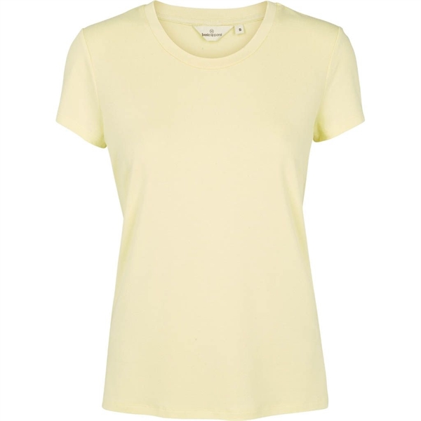Basic Apparel / rianna t-shirt / soft yellow / Designfryd.dk
